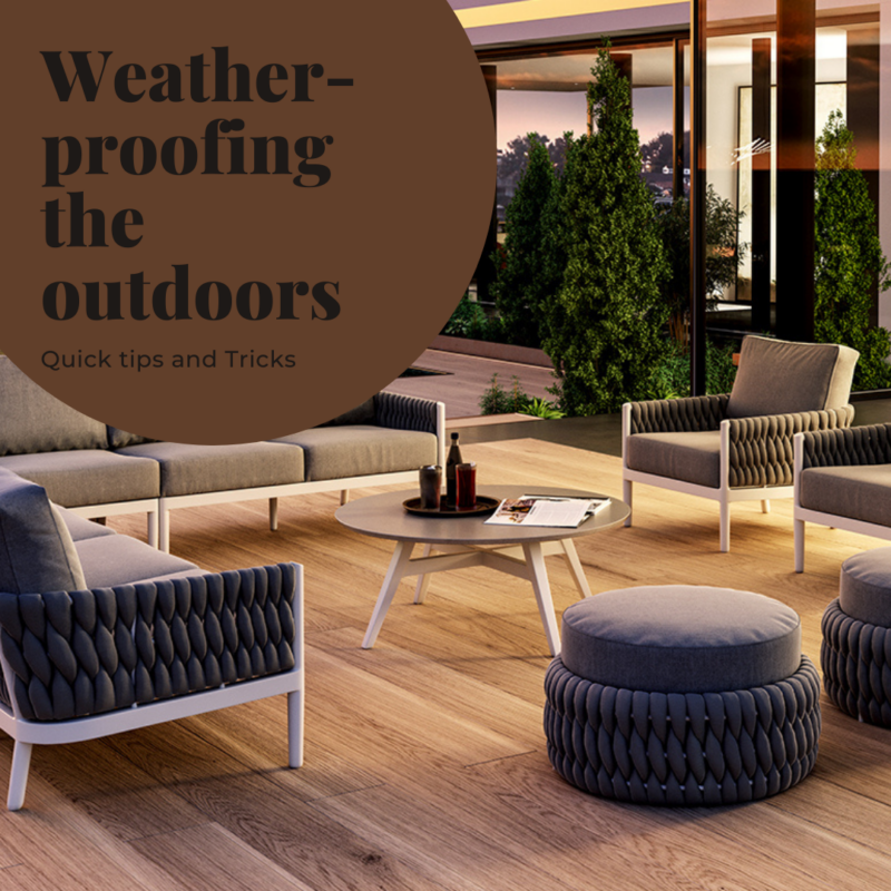 weather-proof patio furniture